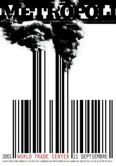 11 de septiembre. 11 aniversario. Portada sobre la película WORLD TRADE CENTER de Oliver Stone. Ilustración de Rodrigo Sánchez y Raúl Arias (portada de septiembre de 2006)