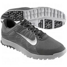 Nike Men s Air Range WP II Golf Shoes - Dark Gray Silver Black   40b18cd6748