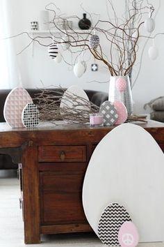 Ostern ganz in Rosa Schwarz und Weiß von Lady Stil