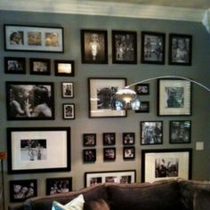 Living Room Wall--this took some thought...!                                                                                                                                                     More