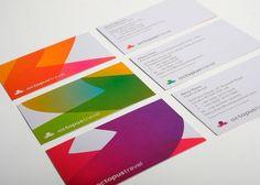 Business card | color | orange | purple | green