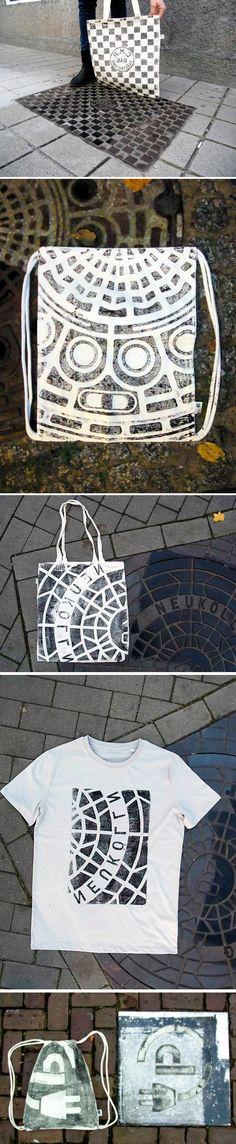 Coletivo de serigrafia utiliza tampas de bueiros para estampar roupas e bolsas stylo urbano-3