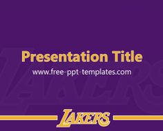 Free PowerPoint Templates: LA Lakers PPT Template