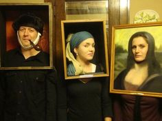 Art Gallery costumes.  I was the Mona Lisa.  My daughter and son in law were the Van Gogh and Vermeer paintings.  My favorite costumes ever!