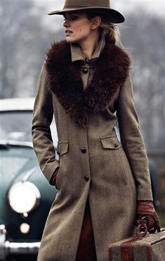 How to wear a fur collar - Google Search