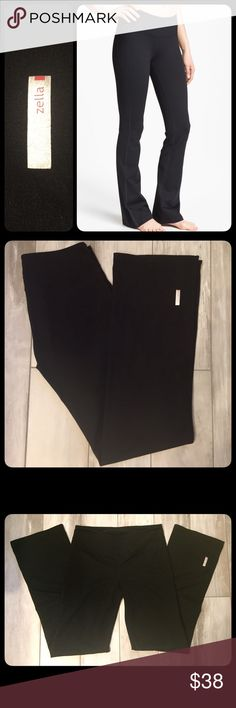 Zella Wide Leg Pants Wide leg workout pants. Zella brand for Nordstrom. Gently worn and in good condition. Small hidden pocket in waistband for key. Zella Pants Boot Cut & Flare