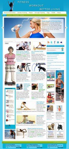 Fitness & workout ready-made website for sale! Comprehensive website design with very elegant and detailed graphics, plenty of content, dozens of pictures, videos reviews, contact/privacy pages, and more! READY TO RUN with ANY affiliate programs such as AdSense, Amazon, ClickBank, Chitika, AdBrite, Kontera, Infolinks... all of them! Built-in and preconfigured auto-updating Amazon Store, start selling without keeping any inventory!