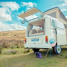 Exmoor camping adventures with Ernie the VW Camper Devon Holidays, North Devon, Vw Camper, Recreational Vehicles, Camping, Bays, Adventure, Classic, Campsite