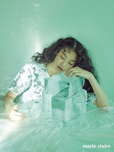 Kim Seol Hee for Marie Claire Korea July Photographed by Shin Sun Hye Marie Claire, Mint Aesthetic, End Of Summer, Character Inspiration, Iridescent, Elsa, Celebs, Colours, Disney Princess
