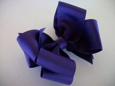 Toddler Hair Bow Purple  Big Double Boutique  by preciouscurls,