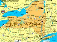 Took a train to New York. Map Of New York, New York City, Us Geography, New Paltz, Radio City Music Hall, Nyc, State Map, Travel Deals, Geography