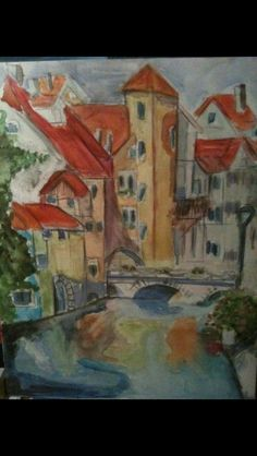 Annecy in watercolor