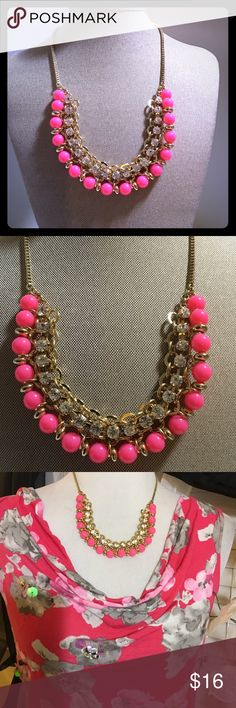 pink neon necklace Gorgeous necklace , great for summer colors , excellent condition Jewelry Necklaces