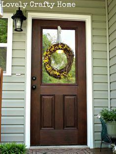 Hello Door Decal Front Door Decal Script by StephenEdwardGraphic Door Paint Colors, Front Door Colors, Front Door Decor, Door Entryway, Brown Front Doors, Painted Front Doors, Solid Doors, White Doors, Exterior Colors