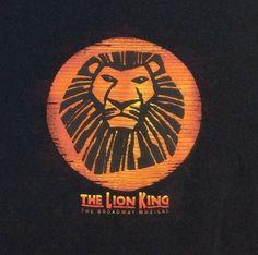 Disney Lion King T-Shirt 2XL #Broadway Musical Black Orange Tee Men Women XXL #Disney #LionKing