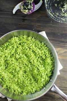 Arroz de Brócolis | Malas e Panelas (acrescentar alho e tempero)
