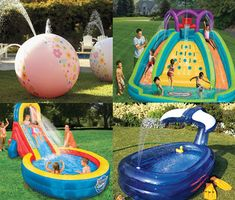 Water Park Party: Take Advantage Of The Warm Weather And Create A Water  Park In Your Own Backyard. Buy, Borrow Or Rent Inflatable Toys That Spout  Water And ...