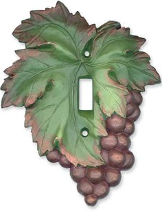 Grape Cluster Red Light Switch Plates, Outlet Covers, Wallplates