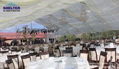 Thetransparent tentsizes is 30 x 30 m can hold around 600 people and can be enlarged by bay distances of 5 m, and thus stages and music bands or some others could be placed inside the tent.#weddingtent #weddingmarquee