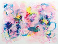 Abstract painting by Svetlansa #svetlansa #homedecor #largepainting #largeart #abstractpainting #pinkart #pinkpainting #wallart #artwork #white