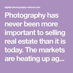 Photography has never been more important to selling real estate than it is today. The markets are heating up again and demand for real estate creates demand for photography. This is good news to photographers, but like any business, there is plenty of competition. If you are new to real estate and architecture photography, here …