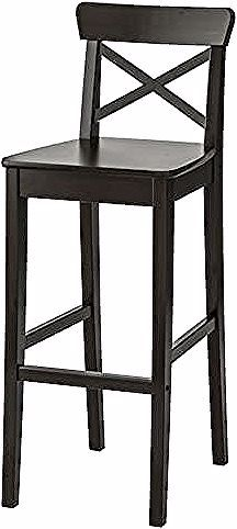 Ingolf Bar Stool With Backrest White Ikea In 2020 Bar Stools Stool Ikea
