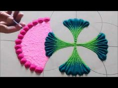 Rangoli Art is the traditional art of India. It is believed that having Rangoli Design in front of your house brings good luck apart from home decoration pur.