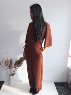Combinaison oneself - paprika Wrap Dress, Dresses, Fashion, Dry Cleaning, Suit, Gowns, Moda, La Mode, Wrap Dresses