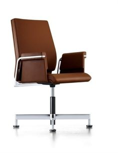 Show details for Interstuhl Axos Conference Swivel Office Chair Brown
