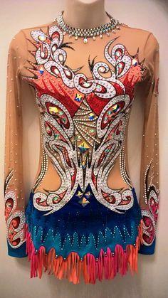 Rhythmic Gymnastic design by Olga - leotards costumes suits - Toronto - Gallery - Swarovski crystals - exclusive - show circus dance artistic