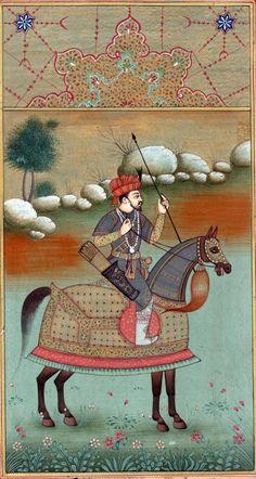 Mughal Miniature Painting Rare Handmade Timur Equestrian Book Leaf Tamerlane Art: