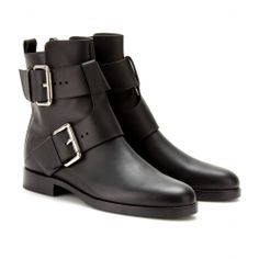 LEATHER ANKLE BOOTS  seen @ www.mytheresa.com by Pierre Hardy $1368.  Ok these are my new perfect booties, perfectly walkable, just the right amount of edgy without being cliche, perfect scale of the buckles! Now if only the price was perfect too...hmm