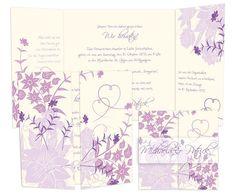 Hochzeitseinladung+-+Wild+Ornaments+in+Lila