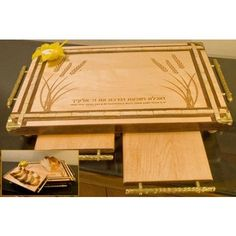 Wooden Challah Board With Serving Boards