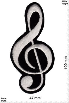 Parches - Notenschlüssel - clavis - clave - chiave - clef - very soft fabric - Fun Parches - Adult - Chaleco - Parche Termoadhesivos Bordado Apliques - Patch - Give Away Regalar: Amazon.es: Hogar