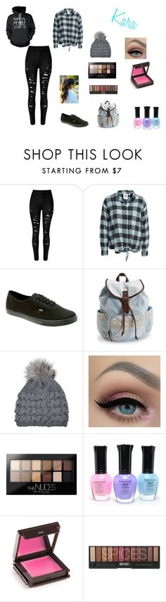 """""""Kara"""" by amp31001 on Polyvore featuring Cheap Monday, Vans, Aéropostale, Inverni, Maybelline, Jouer, women's clothing, women, female and woman"""