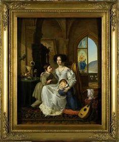 Wilhelmine Luise Prinzessin von Preußen mit ihren Söhnen Friedrich Wilhelm Georg…