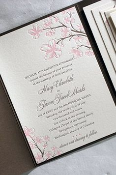 Cherry Blossom Wedding Invitation
