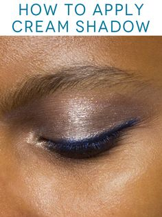 The RIGHT way to apply cream shadow.