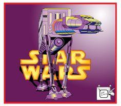 Mostrando a máquina de Guerra da Star Wars. Desenho - Ilustração - Illustration - Drawing http://arterocha.blogspot.com.br
