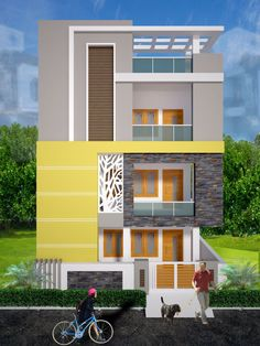 19 Ground Floor House Elevation Design Ground Floor House Elevation Design - home design All Indian Home Decor home homelook Home Design Home Elevation makan Front elevation With images Pin. 3 Storey House Design, Duplex House Design, Modern House Design, Flat Roof House Designs, Narrow House Designs, House Outside Design, House Front Design, House Paint Exterior, Exterior Design