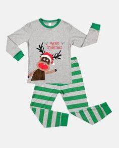 Kids Christmas Pajamas Set Long Sleeve New Xmas Sleepwear Children Skin friendly Nightwear Girls Christmas Pajamas, Boys Christmas Outfits, Christmas Pjs, Kids Outfits, Cotton Pjs, Cotton Sleepwear, Baby Harem Pants, Monogram T Shirts, Baby Bloomers
