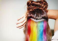 The Hidden Rainbow Hair Trend Do you know about the hidden rainbow hair trend ? #colorfulhair #colorful #hair #rainbow #rainbowhair #hairstyle #hairtrend