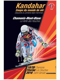 The Kandahar 2016 even is coming up in Chamonix | February 19th and 20th 2016 | World Cup | © kandahar_affiche_2016