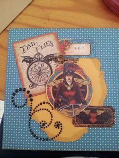 My best friend's 40th birthday card using Graphic 45 Steampunk spells