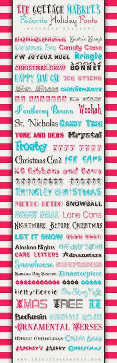 Holiday Fonts - The Paper Boutique: Fab Five Friday