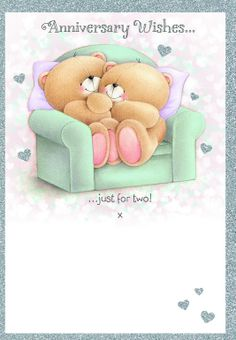 Hallmark Forever Friends Anniversary Card 'Todays Your Day' - Medium Happy Aniversary, Happy Anniversary Wishes, Anniversary Cards, Birthday Wishes, Happy Birthday, Tatty Teddy, Celebration Love, Teddy Bear Pictures, Blue Nose Friends