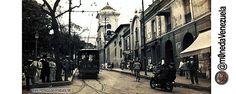 1910 Caracas. Catedral, Plaza Bolívar y Tranvía (ruta Plaza Bolívar al Hospital Vargas) #HistoFotoVE