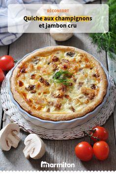 On se régale avec cette quiche réconfortante aux champignons et au jambon cru ! #recettemarmiton #marmiton #recette #cuisine #recettequiche #quiche #quicheaujambon #recettechampignons #champignons #ideesrecettes #inspiration #recettefacile #recetterapide Quiches, Quiche Lorraine, Quiche Recipes, Food Hacks, Vegetable Pizza, Entrees, Recipies, Toast, Food And Drink