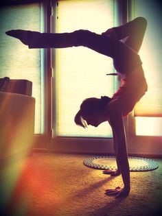 Some day I will hold this without a wall as well. Inspirational! ~ really want to start working on #handstands